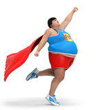 Obese superhero Royalty Free Stock Images