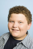 Obese Teenage Boy Smiling Royalty Free Stock Photo
