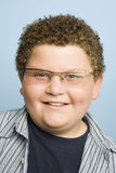 Obese Teenage Boy Smiling Stock Images