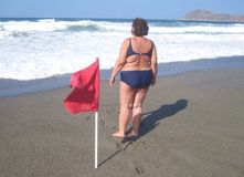 Obese woman Royalty Free Stock Photography