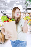 Obese woman healthy lifestyle Royalty Free Stock Images