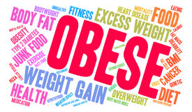 Obese Word Cloud. On a white background Stock Images