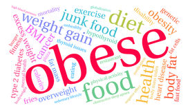 Obese Word Cloud. On a white background Royalty Free Stock Photo