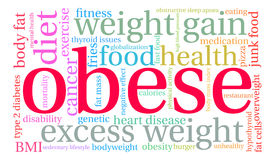 Obese Word Cloud. On a white background Royalty Free Stock Photography