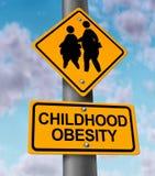 Obesidad de la niñez Imagen de archivo libre de regalías