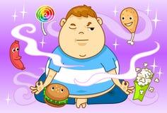 Obesidad y dieta Imagen de archivo libre de regalías