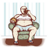 Obesidade Fotografia de Stock