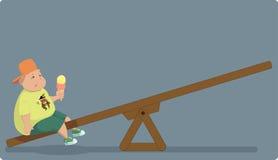 Obesidade da infância ilustração do vetor