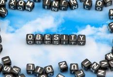 A obesidade da palavra imagens de stock