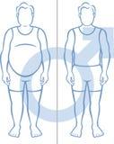 Obesidade e homens Imagem de Stock