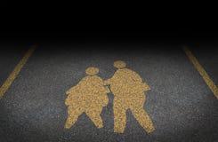 Obesità in bambini Fotografia Stock Libera da Diritti