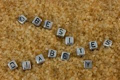 Obesità e concetto del diabete Fotografia Stock Libera da Diritti