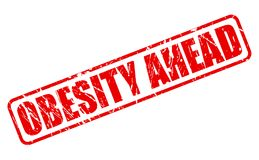 OBESITY AHEAD red stamp text Stock Photography