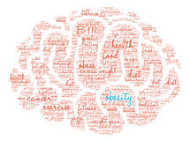 Obesity Brain Word Cloud. On a white background Stock Photos