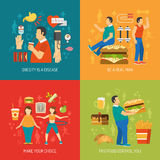 Obesity Concept Flat Stock Photography