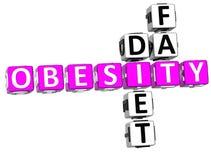 Obesity Diet Fat Crossword Royalty Free Illustration
