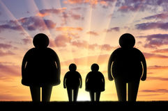 Obesity family concept Royalty Free Stock Photography