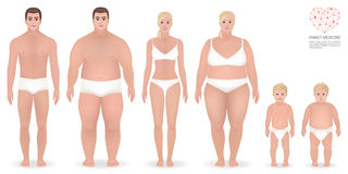 Obesity, family medicine, vector illustration Stock Photography