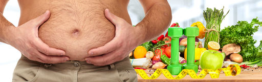Obesity and healthy food Royalty Free Stock Photography