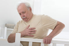 Obesity, heart palpitation Stock Photography