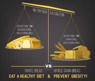 Obesity Infographics vector Royalty Free Stock Photography