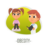 Obesity medical concept. Vector illustration. Stock Photos