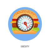 Obesity and Overweight Concept Royalty Free Stock Image