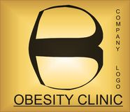 Obesity problem alphabetic logo for company providing solutions. Useful for many purpose like ,web designing , medical companies , health and workout training stock illustration