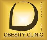 Obesity problem alphabetic logo for company providing solutions. Useful for many purpose like ,web designing , medical companies , health and workout training royalty free illustration