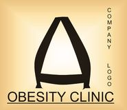 Obesity problem alphabetic logo for company providing solutions. Useful for many purpose like ,web designing , medical companies , health and workout training vector illustration