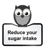 Obesity problem. Monochrome obesity sugar intake sign isolated on white background Stock Photos