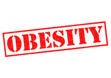 OBESITY. Red Rubber Stamp over a white background stock illustration