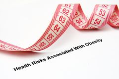 Obesity risk Royalty Free Stock Images