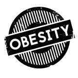 Obesity rubber stamp Royalty Free Stock Photo