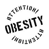 Obesity rubber stamp Royalty Free Stock Image