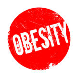 Obesity rubber stamp Stock Images