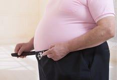 Obesity senior man Royalty Free Stock Images