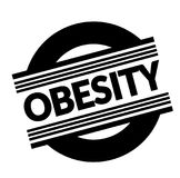 Obesity stamp on white. Background . Sign, label sticker stock illustration