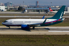 Obetitlade Boeing 737-700 Arkivbild