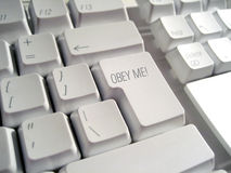 Obey me Keyboard Stock Images