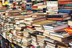 Obfitość książki w książkowym sklepie zdjęcie royalty free