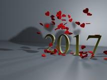 Obfitość miłość nowy rok ilustracji