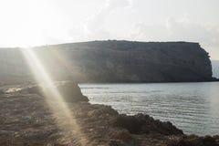 Obgleich es wenig Bewusstsein unter den die Kykladen-Inseln gibt, ist es ein Insel koufonisia, das Aufmerksamkeit mit seinem beau Stockfotos