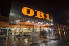OBI-Geschäftsmitte Stockfotos