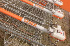 OBI shopping carts Stock Photo
