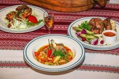 obiad podano do stołu Fotografia Stock