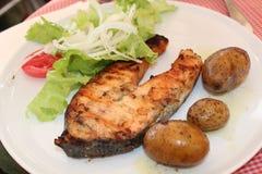 obiad ryby z grilla Obraz Stock