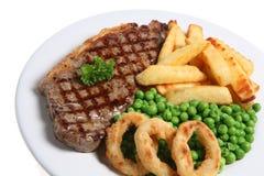 obiad stek Obraz Royalty Free