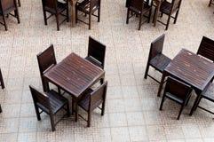 Obiadowego stołu ustawianie przy restauracją Obrazy Stock