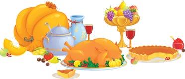 obiadowy dziękczynienie ilustracji